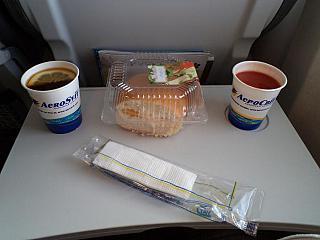 Питание на рейсе Киев-Москва АэроСвита