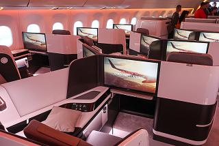 The passenger seats in business class of the plane CR929