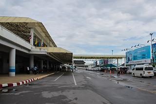 The terminal 1, Phuket international airport and railway square