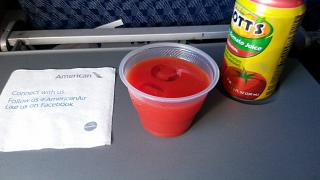 Drinks on the flight Saint Martin - Miami American airlines