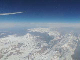 Flying over the mountains of Iran