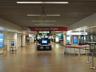 Вход в сектор В в аэропорту Брюсселя