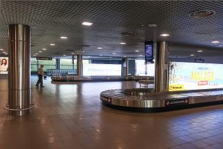 Baggage claim area at Riga Airport