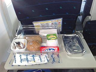 Food on the flight Norilsk-Moscow NordStar airlines