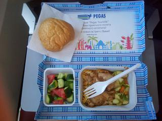 Food on a Charter flight Volgograd-Dalaman airline Nordwind