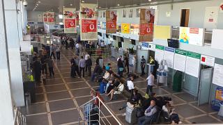 В аэровокзале аэропорта Пермь Большое Савино