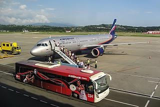 Airbus A321 of Aeroflot at the airport of Sochi