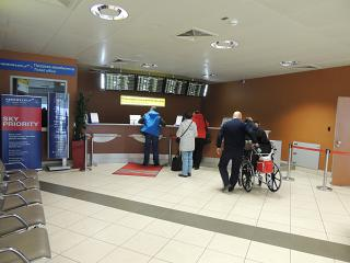 Check for transfer passengers in terminal D of Sheremetyevo airport