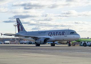 Airbus A320 of Qatar Airways at Moscow Domodedovo airport