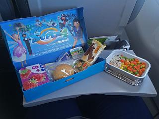 Flight meals on the flight from Moscow to Barcelona airlines S7 Airlines