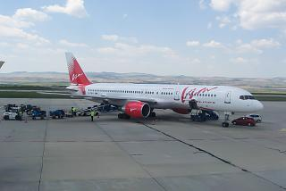 Boeing-757-200 of airline VIM-Avia at the airport of Burgas
