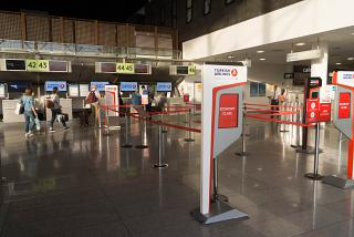Reception of the Turkish airlines at the airport Catania-Fontanarossa