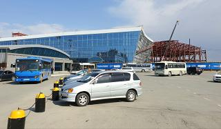 The construction of the new passenger terminal of the airport Yuzhno-Sakhalinsk Khomutovo