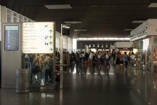 In a clean area of the airport Catania-Fontanarossa