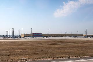 DHL sorting center at Leipzig Halle Airport