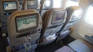 Passenger seats economy class-Boeing-777-200 Emirates airlines