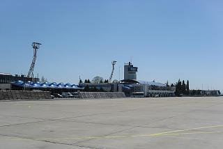 The old terminal of the airport of Burgas