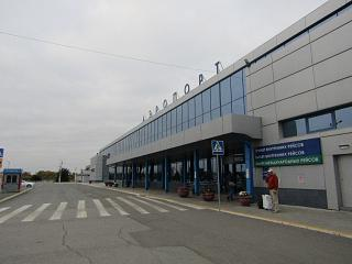 The terminal building of the airport Omsk Tsentralny
