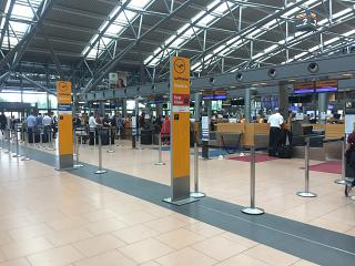 Reception of Lufthansa at the airport Hamburg