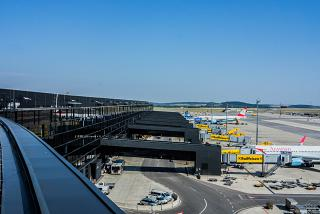 Gates of Terminal 3 the airport Vienna Schwechat