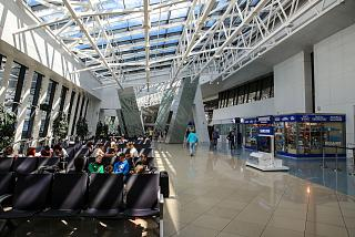 In the terminal building of national airport Minsk