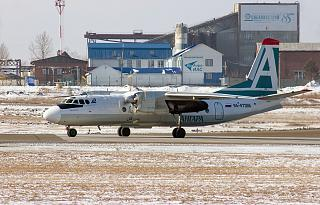 "Antonov an-24 RA-47366 of ""Angara"" airlines at Irkutsk airport"