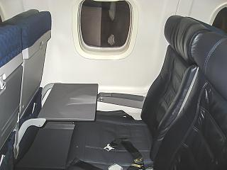 The passenger seat in the Embraer ERJ140