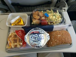 Food on the flight Moscow-Brussels Brussels Airlines