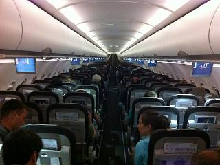 The cabin Airbus A320 SWISS