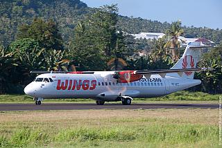 The plane ATR of 72 airlines Wings Air