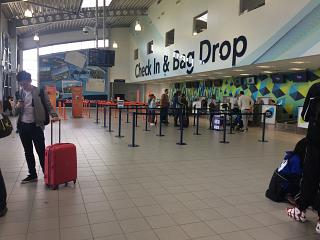 The check-in area at London Southend airport