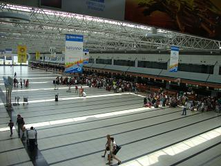 Hall check-in for flights at Terminal 2 Antalya airport