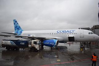 Airbus A320 Cobalt at the airport Moscow Sheremetyevo