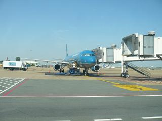 Airbus A321 Vietnam airlines at the airport, Cam Ranh