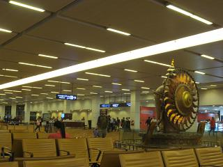 In a clean area of Delhi airport Indira Gandhi