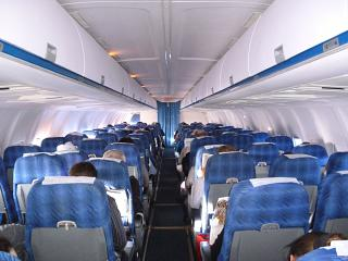 The cabin of the Tu-204-300 of Vladivostok Avia airline