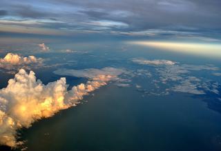 Субтропический закат в Таиланде