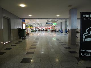 In the clean zone of terminal 2 of the airport Hurghada