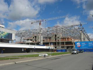 The construction of the new terminal of the airport Pulkovo in Saint-Petersburg