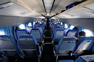 The cabin of the aircraft Tu-134 airline Center-South