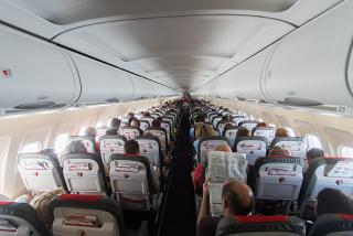The cabin A319 Austrian airlines