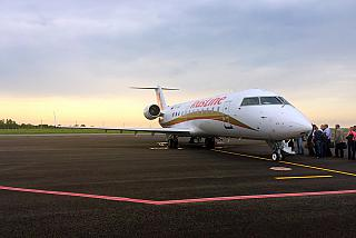 Bombardier CRJ-100ER VQ-BND airlines Rusline at the airport of Lipetsk