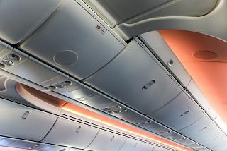 Luggage racks in the plane the Boeing-787-9