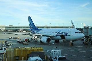 Airbus A310 operated by Air Transat at Toronto Pearson international airport