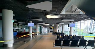Waiting room on the 2nd floor of the new terminal of the Khabarovsk airport