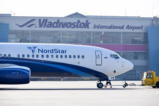 Boeing-737-800 airline NordStar at the airport of Vladivostok