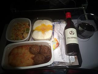 In-flight meals on the flight Amsterdam-Moscow KLM