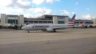 Boeing-737-800 American airlines at Miami international airport