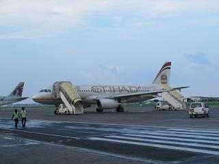 Airbus A320 авиакомпании Etihad Airways в аэропорту Мале