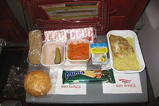 Питание на рейсе Red Wings Москва-Красноярск